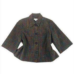 COLDWATER CREEK Tweed Career Swing Coat Jacket